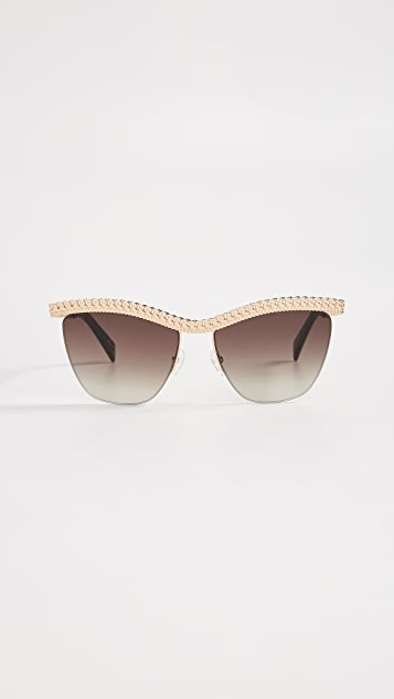Moschino Chain Top Sunglasses
