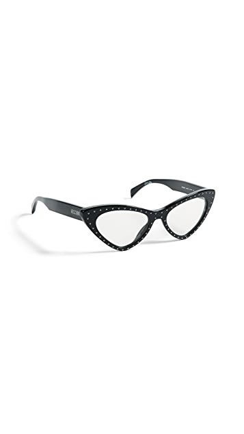 Moschino Pointed Cat Eye Glasses