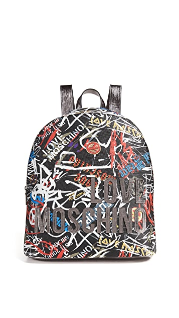 Moschino Love Moschino Graffiti Backpack