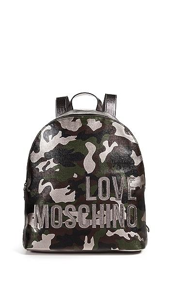 Moschino Love Moschino Camo Backpack