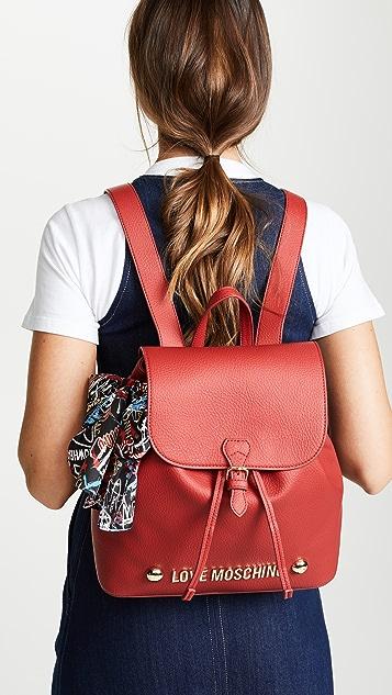 Moschino Love Moschino Foldover Backpack