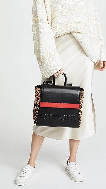 Moschino Love Moschino Stripe Backpack