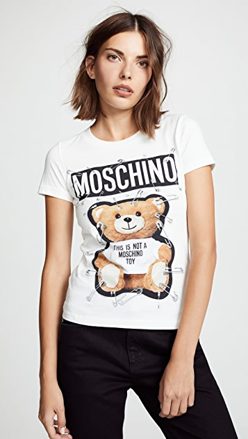 Moschino Safety Pin Bear Tee