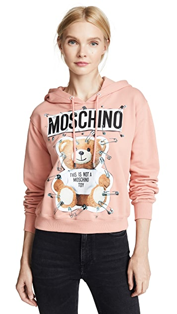 Moschino Safety Pin Bear Hoodie