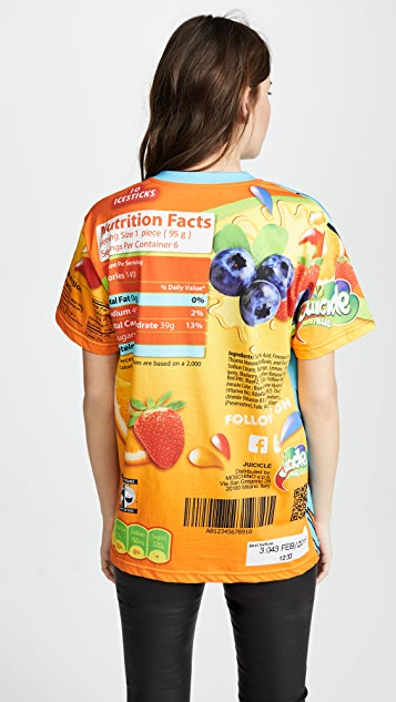 Moschino Cereal Cartoon Girl Graphic Oversize Tee