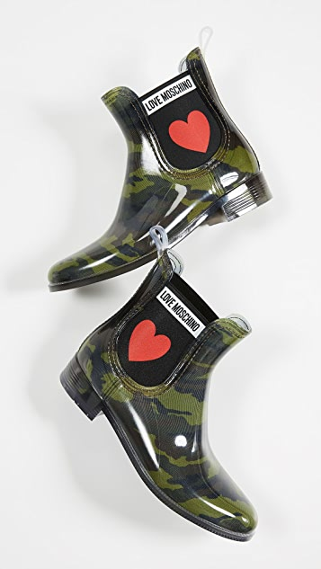 Moschino Love Moschino Rubber Chelsea Boots