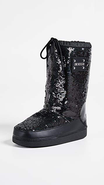 c2110a3fe Love Moschino Sequin Snow Boots