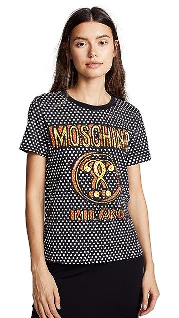 Moschino Logo Polka Dot Tee