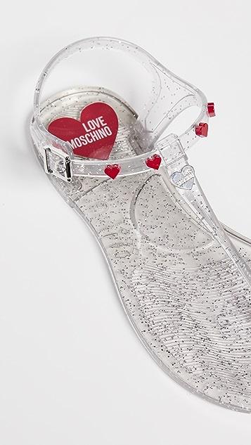 Moschino Love Moschino Thong Sandals