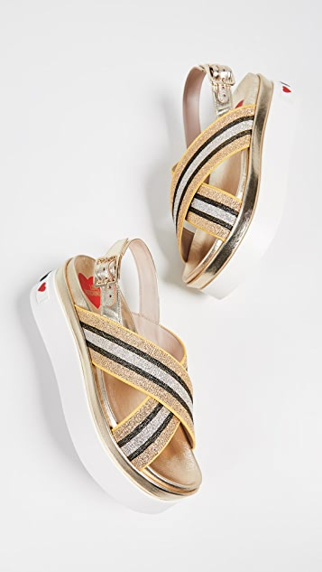 Moschino Love Moschino Flatform Sandals