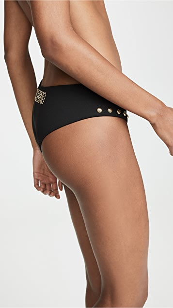 Moschino Studded Bikini Bottoms