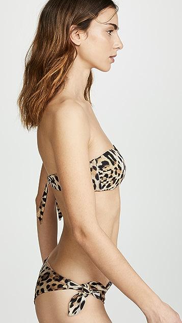 Moschino Leopard Bandeau Bikini Top