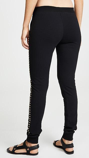 Moschino Спортивные брюки с заклепками