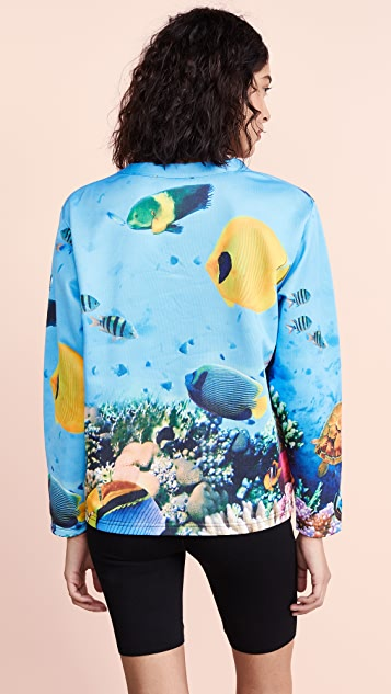 Moschino Ocean Print Sweatshirt