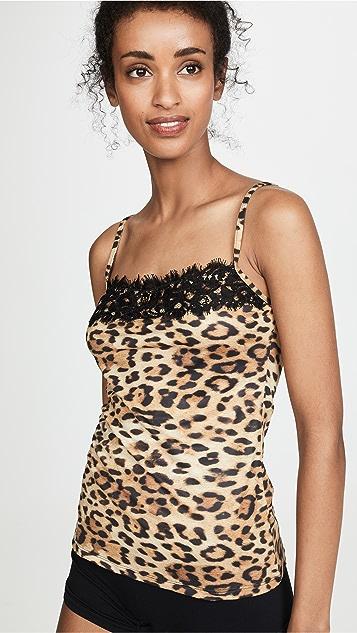 Moschino Майка с леопардовым принтом