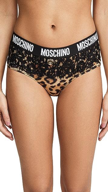 Moschino Брифы с леопардовым принтом