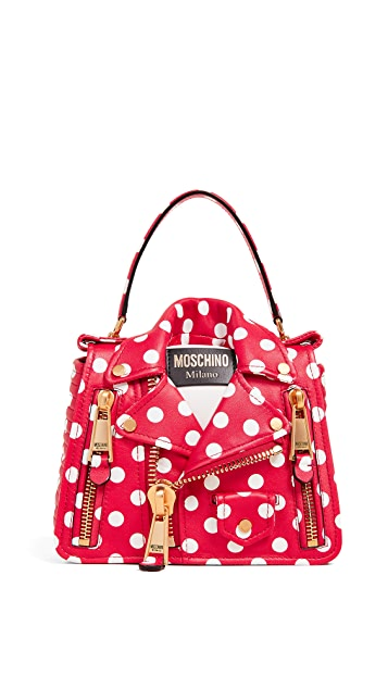 Moschino Polka Dots Biker Bag