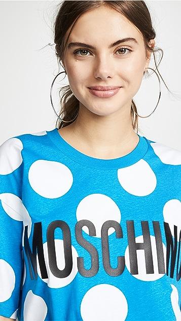 Moschino 圆点花纹宽大 T 恤