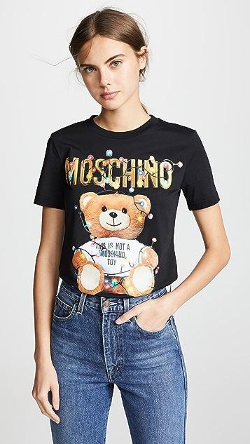 ecf31bcfe Moschino Christmas Lights Bear T-Shirt | SHOPBOP