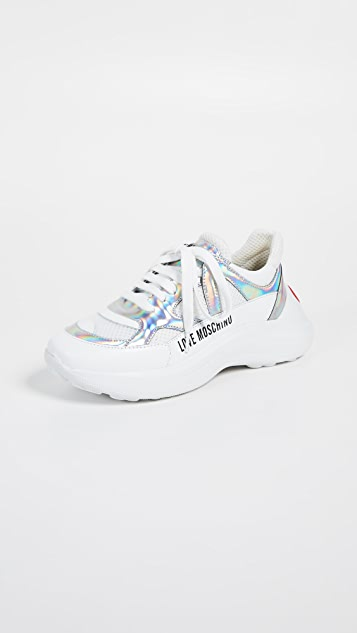 Moschino Super Heart Trainer Sneakers