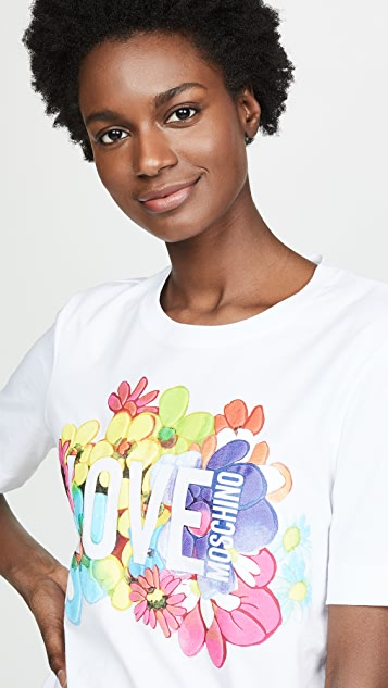 Moschino Love Moschino Floral Tee