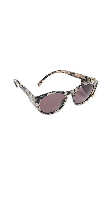 Moschino Round Acrylic Sunglasses