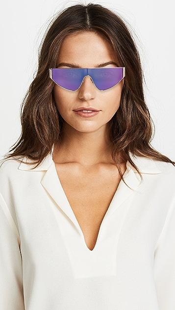 Moschino Narrow Shield Sunglasses