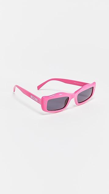 Moschino Narrow Square Sunglasses