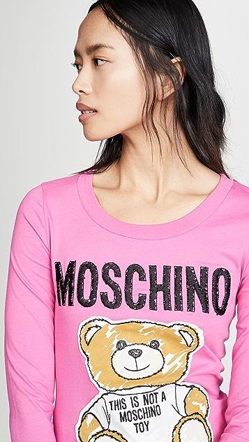 Moschino Футболка Bear Moschino с логотипом