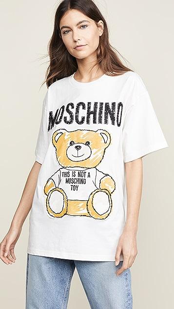 82fca8282a171 Moschino Moschino Bear Oversized T-Shirt | SHOPBOP