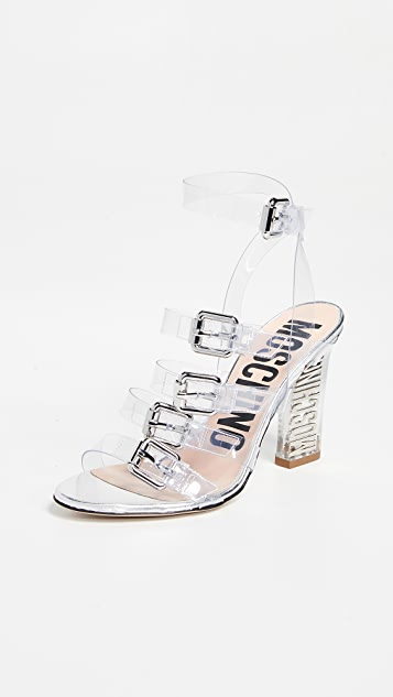 Moschino Lucite Heeled Sandals