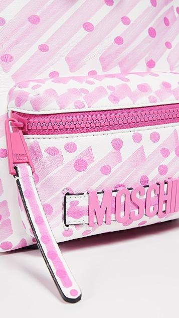 Moschino Brushstroke Lettering Backpack