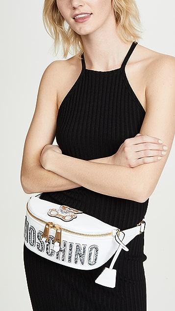 Moschino Brushstrokes Teddy Bear Belt Bag