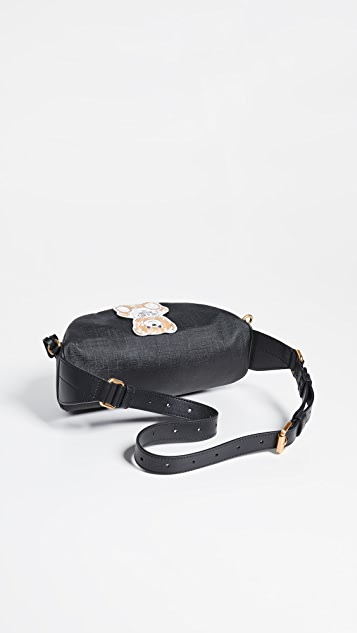 Moschino Brushstrokes Teddy Bear Belt Bag