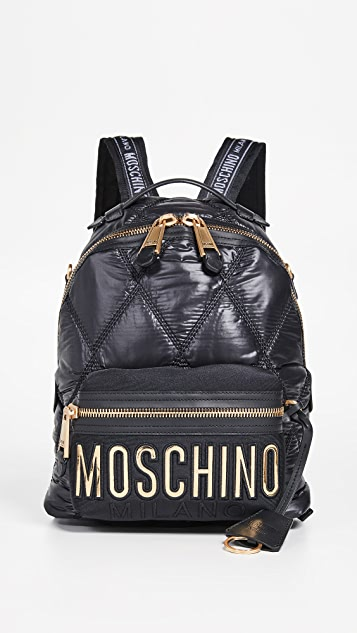Moschino Quilted Moschino Backpack