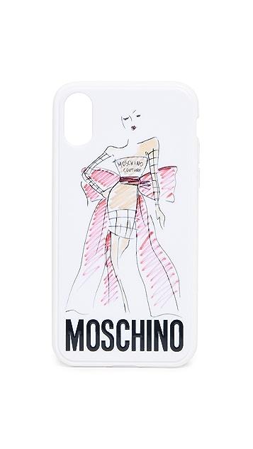 Moschino Чехол Moschino для iPhone XS/X