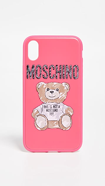 super popular 4a413 47f8f Moschino Bear iPhone XR Case