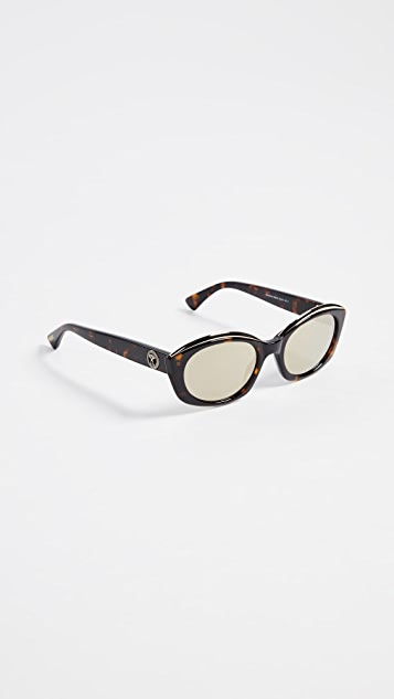 Moschino Narrow Round Sunglasses