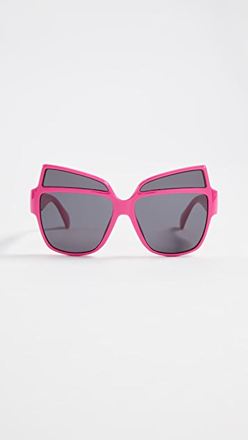 Moschino Oversized Acetate Sunglasses