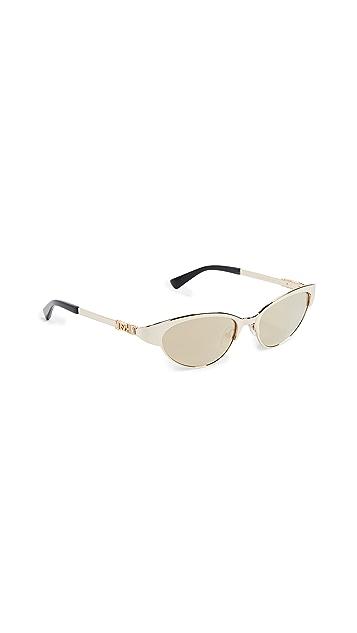 Moschino Узкие металлические солнцезащитные очки