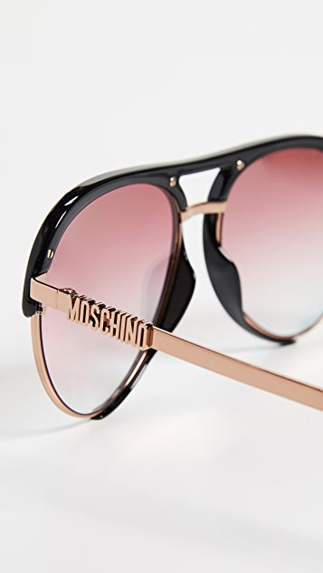 Moschino Acetate Aviator 太阳镜