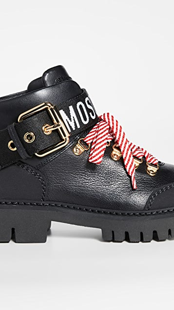 Moschino Moschino Combat Ankle Boots
