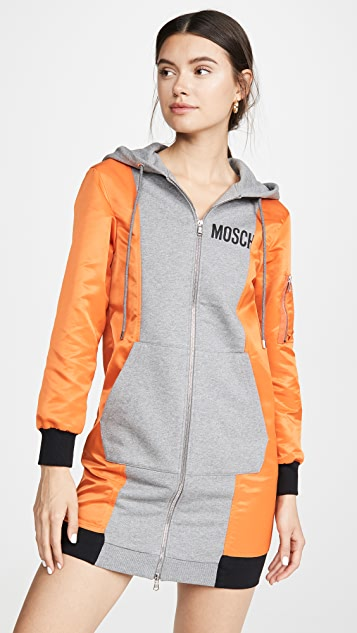 Moschino Dress Colorblock Sweatshirt Dress