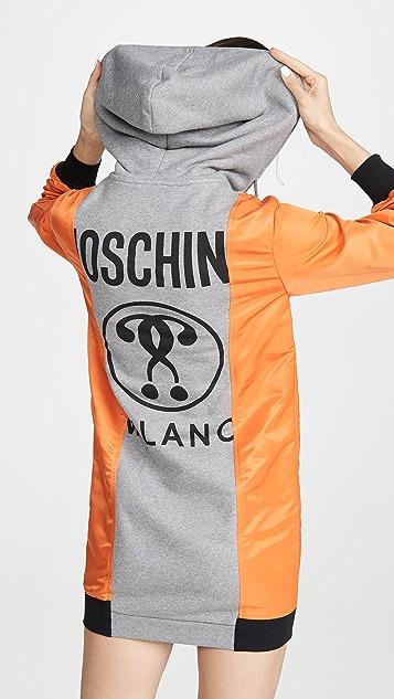 Moschino Платье-толстовка с цветными блоками