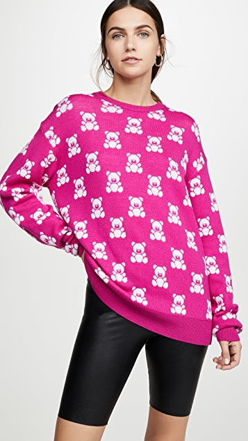 Moschino Bear Pattern Sweater