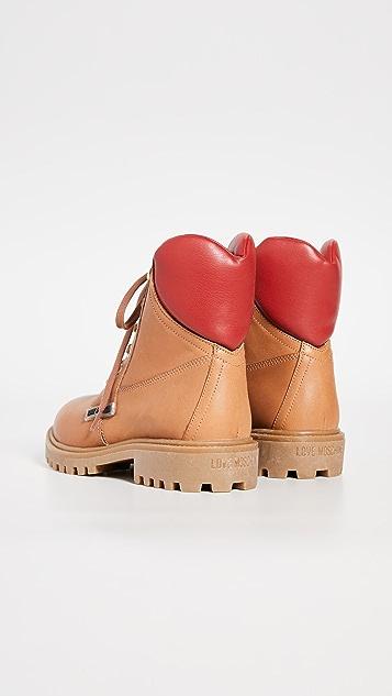Moschino Сапоги на шнуровке