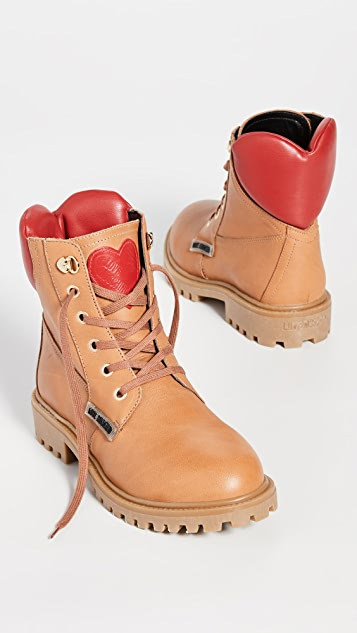 Lace Up Boots by Moschino