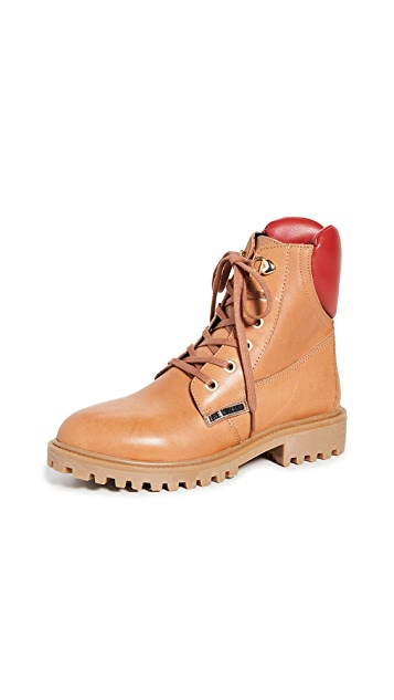Moschino Lace Up Boots