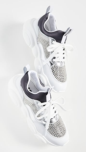 Moschino Stone Embellished Sneakers