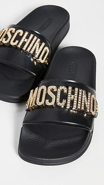 Moschino Moschino Slide Sandals